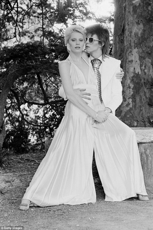 David Bowie and Angie Bowie at the Chateau, July 1973