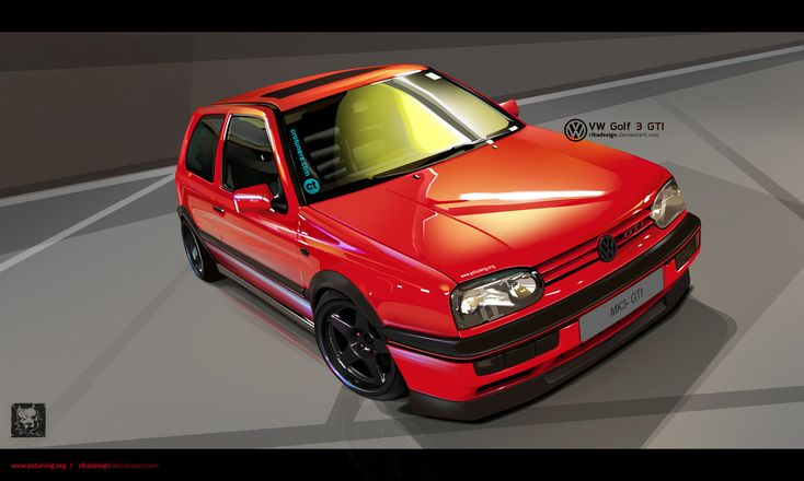 VW Golf MK3 GTI vexel by RibaDesign on deviantART