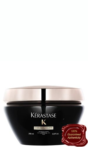Formulated for all hair types Kerastase Creme de Regeneration will leave your hair feeling so smooth and shiny. Kerastase Chronologiste Creme de Regeneration is highly concentrated with Abyssine (regenerates molecules that boost hair fiber), Ceramides to strengthen your hair and Vitamin A & E which will provide you with UV protection and color protection (less fading).