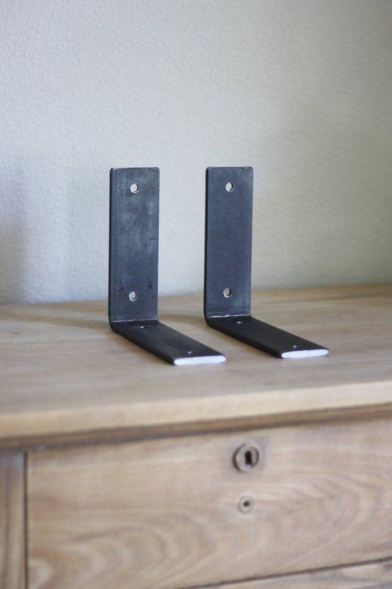 Heavy Duty Bracket L Brackets For Shelf Hardware Included Etsy L Bracket Shelves Shelf Brackets Commercial Shelving