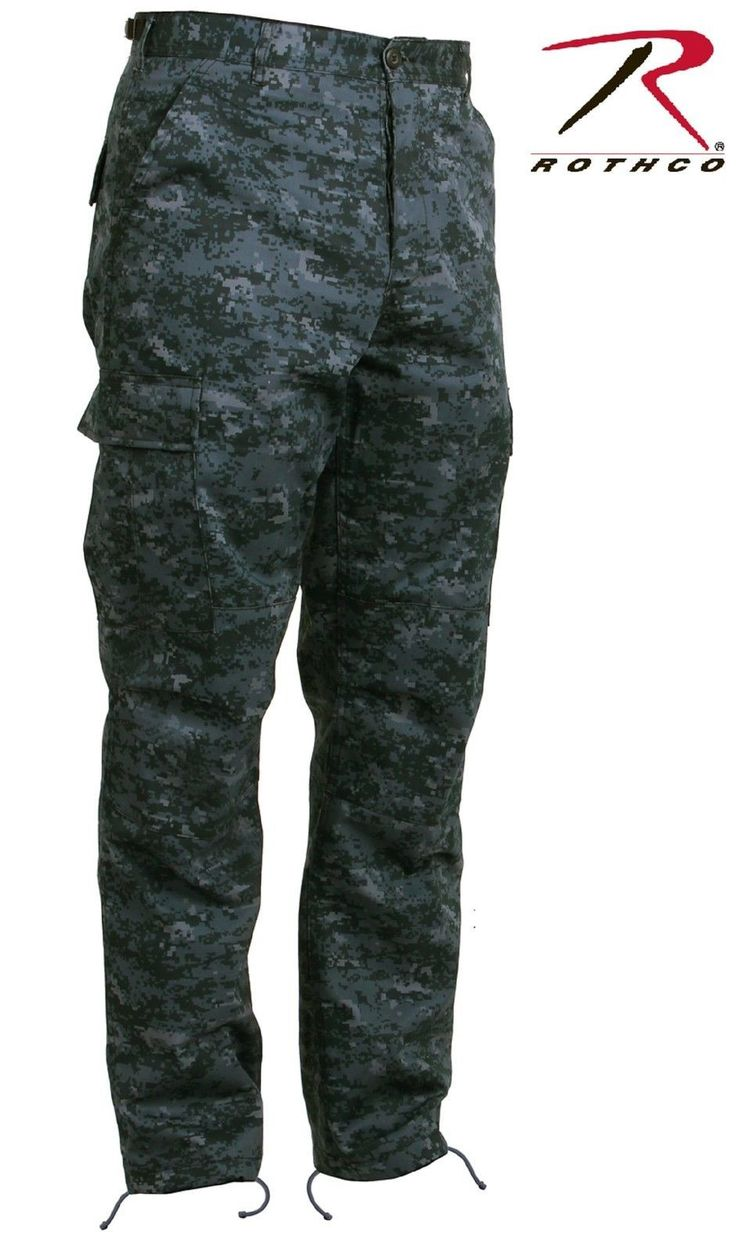 Midnight Blue Digital Camouflage BDU Cargo Pant - Mens Military Style Camo Pants