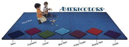 Flagship Carpets AMER1206PP 12 x 6ft Pretty Purple Americolors Educational Rug by Flagship Carpets. $218.68. Design is stylish and innovative. Satisfaction Ensured.. Color: Pretty Purple.. Manufactured to the Highest Quality Available.. Size: 12' x 6'.. Great Gift Idea.. Americolors brilliant array of colors is an asset to any classroom.A heavy cut pile with Densitech means high quality.With two stain protectors and Bleach Block Americolors simple design will withs...