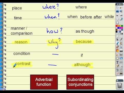 Subordinate adverbial clauses