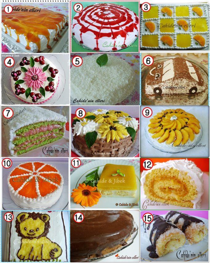 Değişik yaş pasta tarifleri