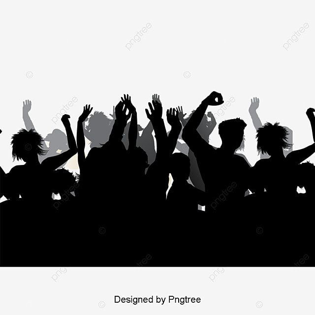 Simple Carnival Crowd Silhouette Decorative Element Simple Cartoon Party Png And Vector With Transparent Background For Free Download Siluet Karnaval Adobe Illustrator