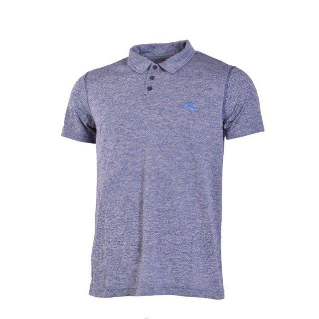 Tricou pentru bărbați Northfinder, Muhammad - albastru - cu mâneci scurte și guler. Tricoul este moale la atingere, flexibil, ușor și confortabil, potrivit pentru timpul liber. Se folosește ca strat de bază. Absoarbe transpirația.