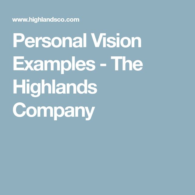 The 25+ best Vision statement examples ideas on Pinterest Vision - personal development example