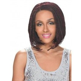 Zury Sis Afro Braid Lace Front Wig BOB A-LINE (Individually Hand Braided)
