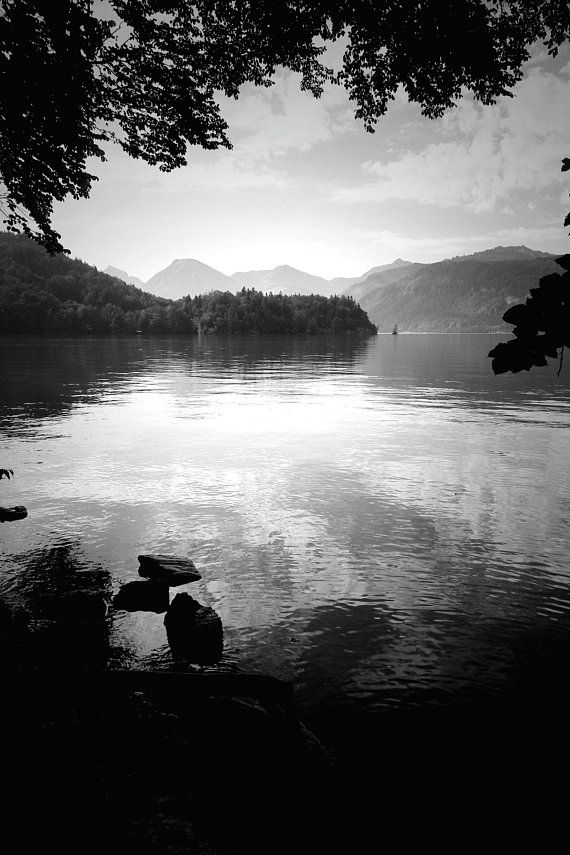 Salzburg Lakes Black And White Printable Wall Art Instant Download Digital Photography Austria Summer Mountain Landscape Summer Landscape Landscape Trees Wall Art Instant Download