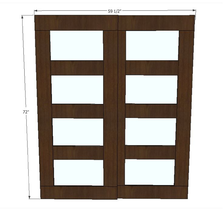 Ana white build a bypass closet doors free and easy for Wood bypass closet doors