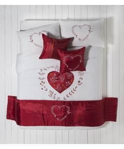 Hearts Bed in a Bag Bedding Set - Double.