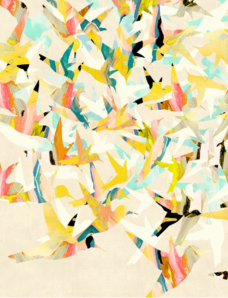 bird art, humming bird art, abstract bird art. I could do something like this with fish. Hmmmm