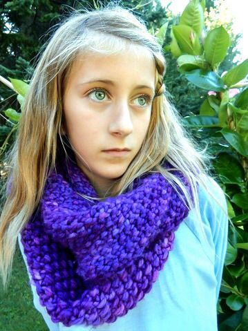 Radiant orchid. cowl. By SoTwisticated.