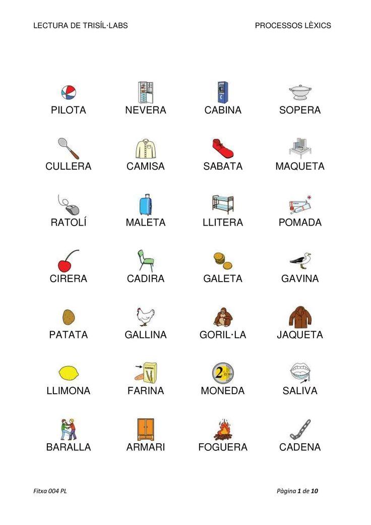 Lectura de paraula de 3 síl·labes. Document elaborat per Sílvia Ferreira