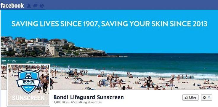 Bondi Life Guard Sunscreen #Facebook #CoverImage. #SocialMedia