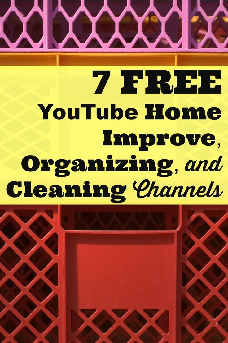 Knowing how to do simple home repairs and how to organize and clean household items can save you lots of money over the long-term. Great tips can be found on these 7 Free YouTube Home Improvement, Organizing, and Cleaning Channels.