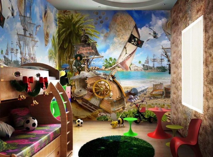 Amazing Design Real House Luxury And Decorations With The Childu0027s Bedroom  Design With A Pirate Theme
