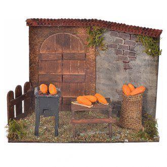 Scena pannocchie fornace 10x5x15x8 presepe napoletano | vendita online su HOLYART