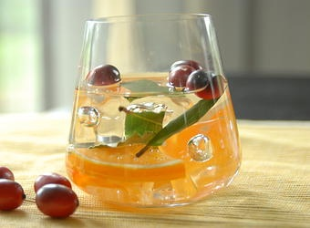 Fruit infused water recipe - Orange Cranberry Spa Water