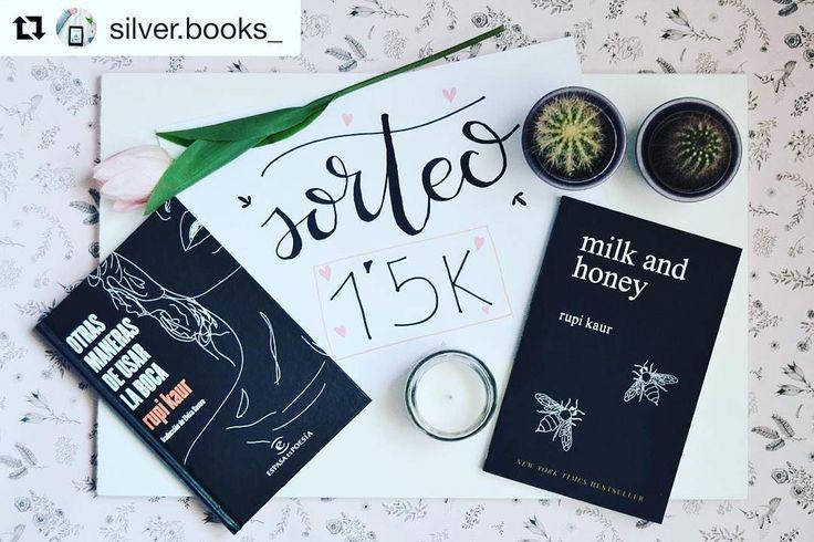 anímense a participar!!! #Repost @silver.books_ (@get_repost)  Hola a todos! Lo prometido es deuda y ya os traigo el sorteo por los 1500 seguidores. MUCHAS GRACIAS!  Como me recomendasteis voy a sortear mi libro favorito  otras maneras de usar la boca o milk and honet de rupi kaur  un regalo sorpresa. (Aclarar que SOLO SORTEO UNO el ganador tendrá la oportunidad de elegirlo en español o en inglés pero solo se llevará uno de los dos). Las condiciones para participar son: Seguir a mi instagram…