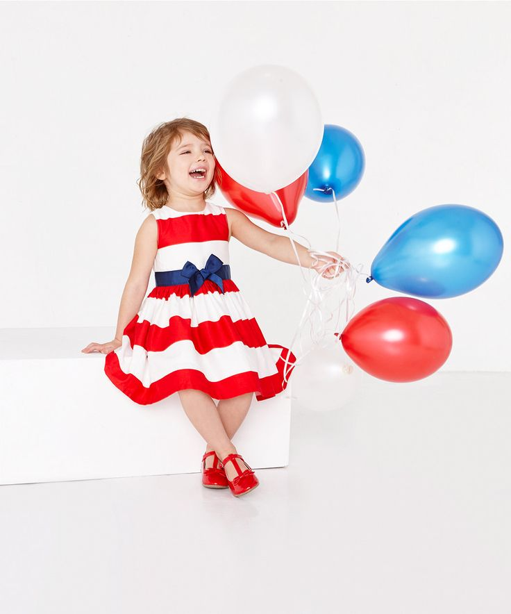 Red and White Stripe Party Dress - young girls (18 mths - 8 yrs) - girls - clothing