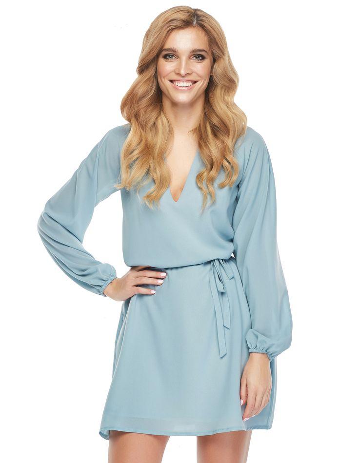 Sukienka Leyla w kolorze błękitnym