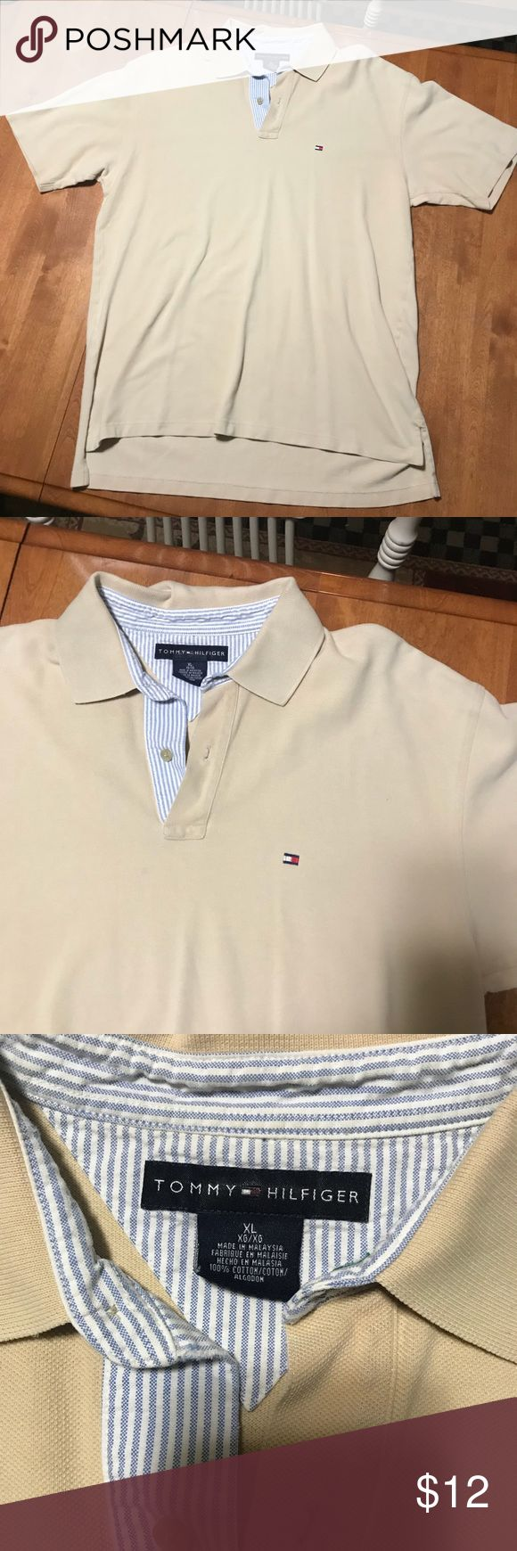 Tommy Hilfiger Polo Shirt In fantastic condition. Ready for immediate use! The color is beige. Tommy Hilfiger Shirts Polos