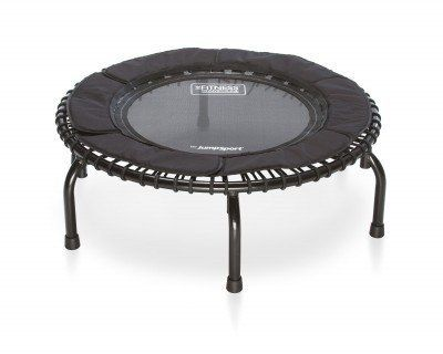 JumpSport Fitness Trampoline Model 250 by JumpSport. $243.76. Amazon.com                 Enjoy a fitness regimen that's fun for the whole family with The Fitness Trampoline 250 from Jumpsport, which offers an elegant look for your home with its silver frame and arching black legs. This 250 model has a 37-inch mat diameter and it's framed by 6-inch padded petal skirt that fully covers the elastic cords. From black EnduroLast 2 elastic cords to a black frame, this sleek uni...
