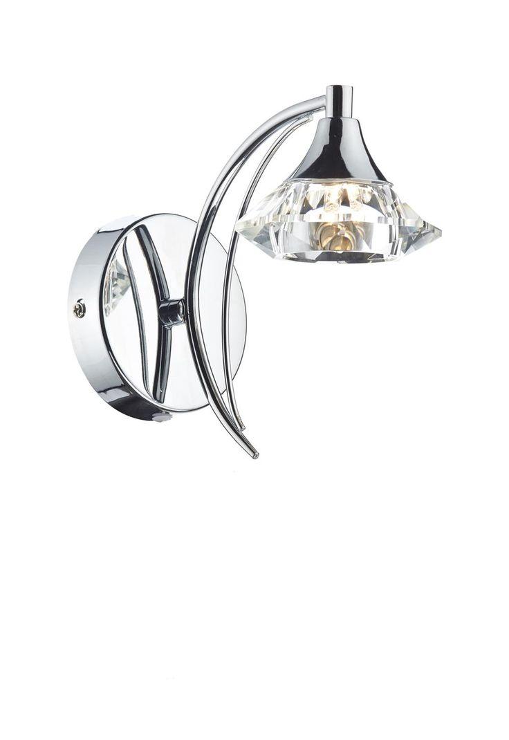 Dar lighting anvil anv0750s s1106 swing arm wall light in polished - Dar Lighting Anvil Anv0750s S1106 Swing Arm Wall Light In Polished Lut0750 Luther Single Wall