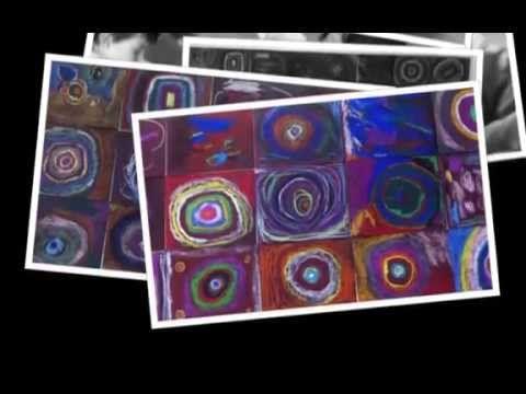 γυαλόχαρτο, λαδοπαστέλ και Kandinsky