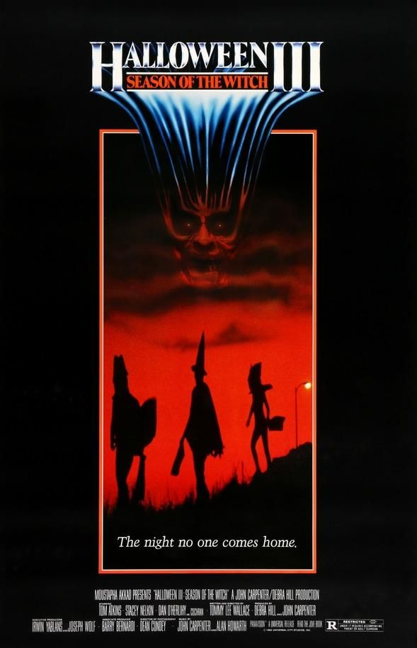 Halloween III Movie Poster TITLE Licensed Adult Heather T-Shirt All Sizes