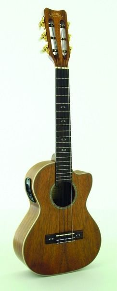 Lanikai Model CK-6EK Curly Koa 6 String Acoustic/Electric Tenor Size Ukulele #LANIKAI #UKULELE