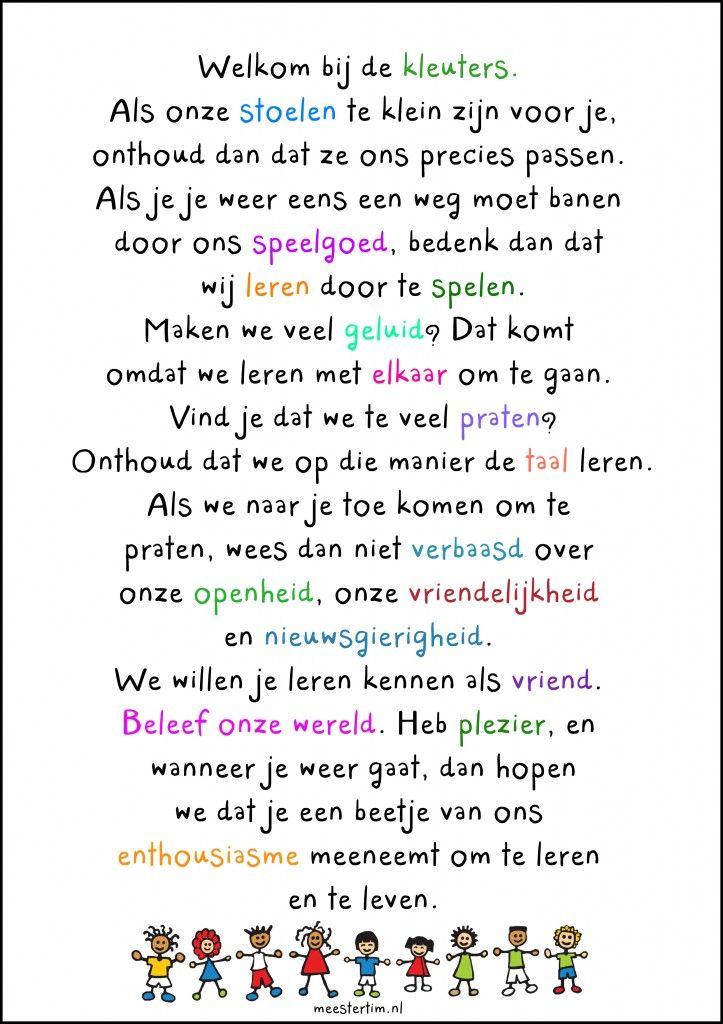 Welkom bij de kleuters - Meestertim.nl
