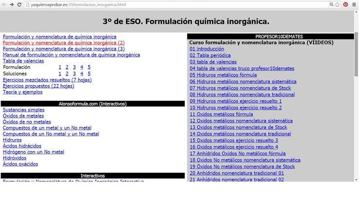 Formulacion quimica ignorganica quimica pinterest qumica urtaz Choice Image
