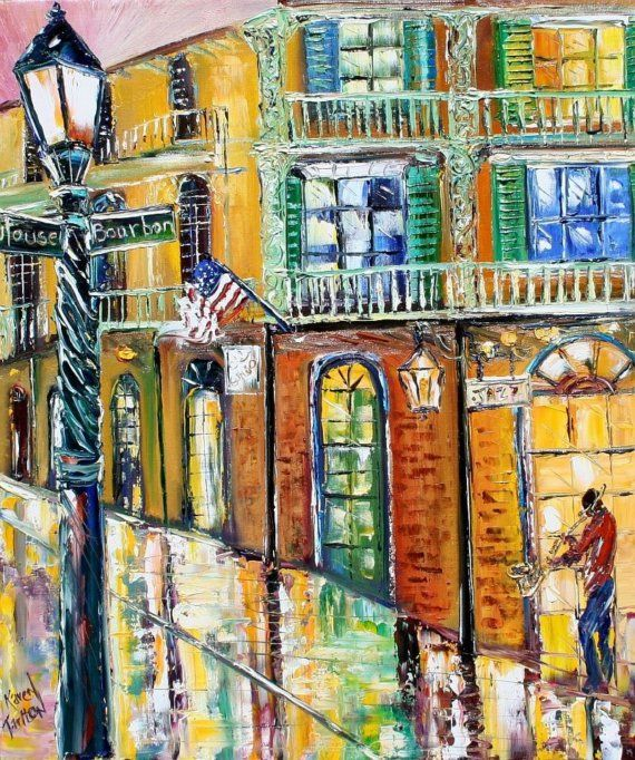 LIMITEDED Edition fine Art Giclee Print New Orleans French Quarter moderne…