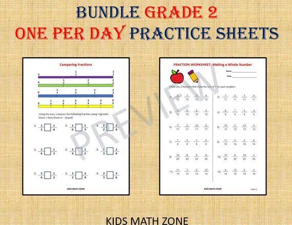 Grade 2 Math Workbook One Per Day 110 Math Worksheets Etsy Math Workbook 2nd Grade Math 2nd Grade Worksheets