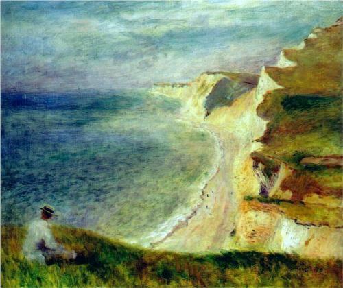 Cliffs on the Coast Near Pourville - Pierre-Auguste Renoir