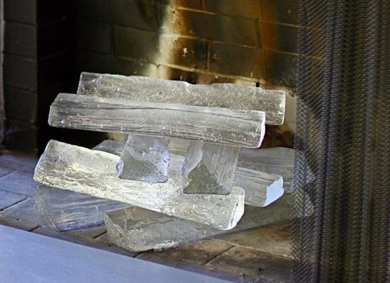 glass logs: Decor Ideas, Livingrooms, Living Rooms, Benroth Glasses, Jeff Benroth, Glasses Logs, Glasses Fireplaces, Fireplaces Logs, Fire Places