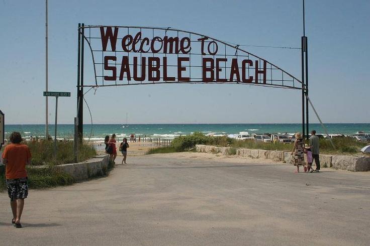 Sauble Beach, Ontario ... 11km of white sand, freshwater beach!