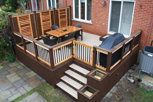 patio en bois  Google Search  patio  Outdoor rooms Patio gazebo et Raised patio