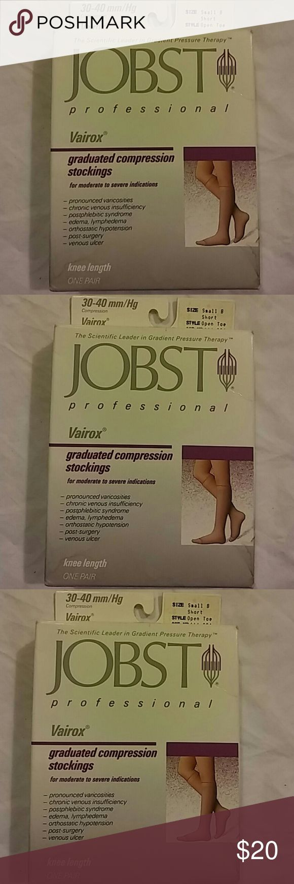Jobst Compression Stockings Sz Small New..Small..Open Toe..Short Jobst Accessories Hosiery & Socks