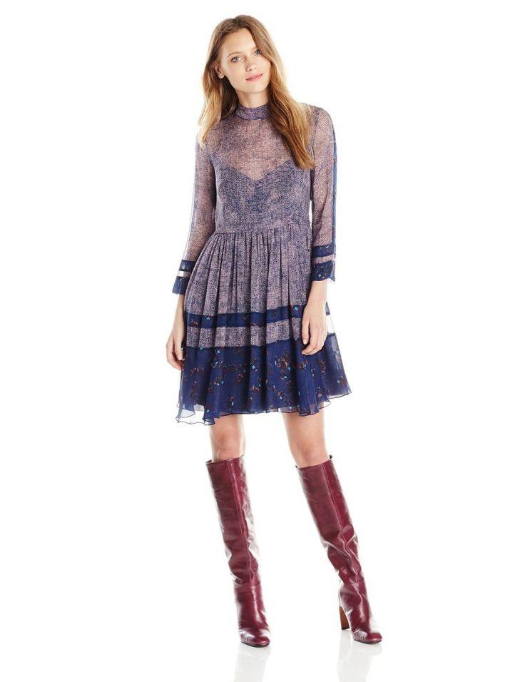 Rebecca Taylor Women's Static Print Dress