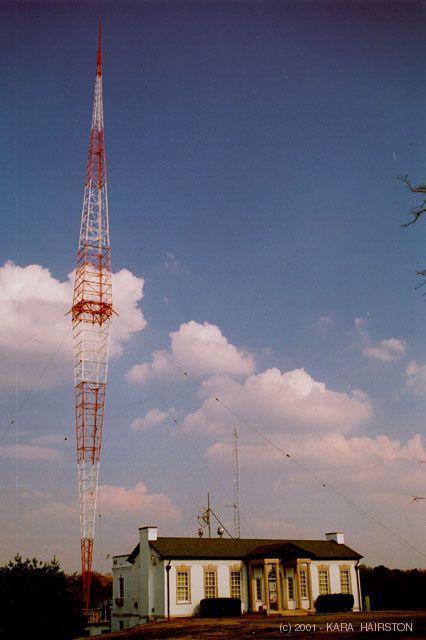 The beautiful WSM 650 AM Blaw Knox diamond transmitter tower in Nashville, TN
