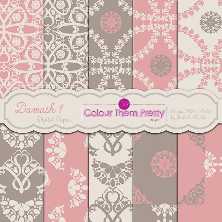 Damask 1 {Digital Papers - Standard License}