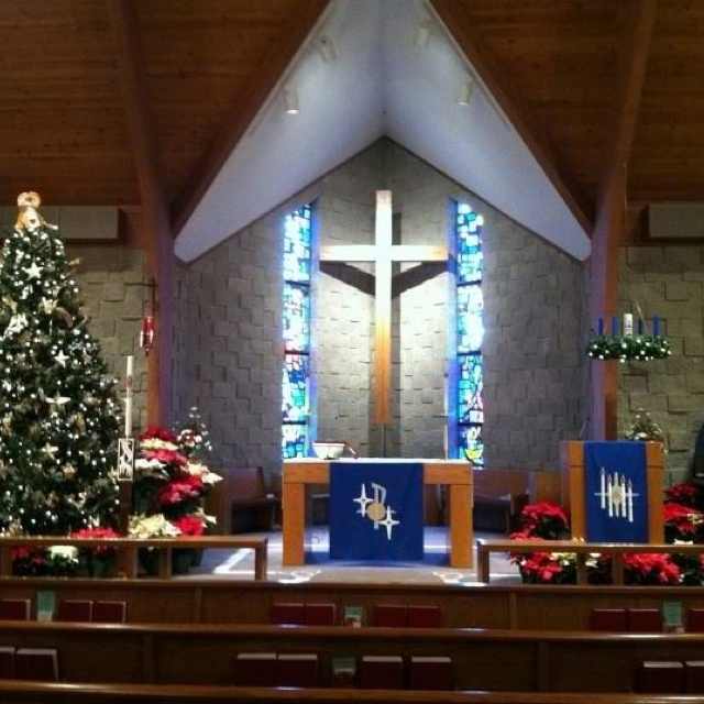 Churches are so beautiful at Christmas