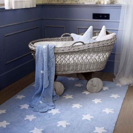 Lorena Canals – vloerkleed kinderkamer Stars cotton blue