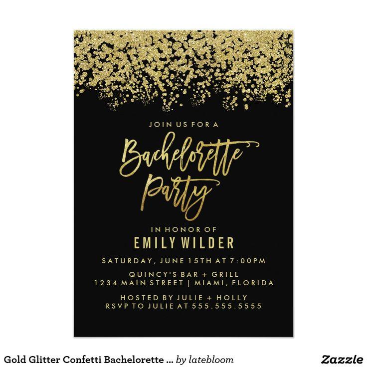 38 best favorite zazzle designs images on pinterest business cards gold glitter confetti graduation party 13 cm x 18 cm invitation card filmwisefo Images