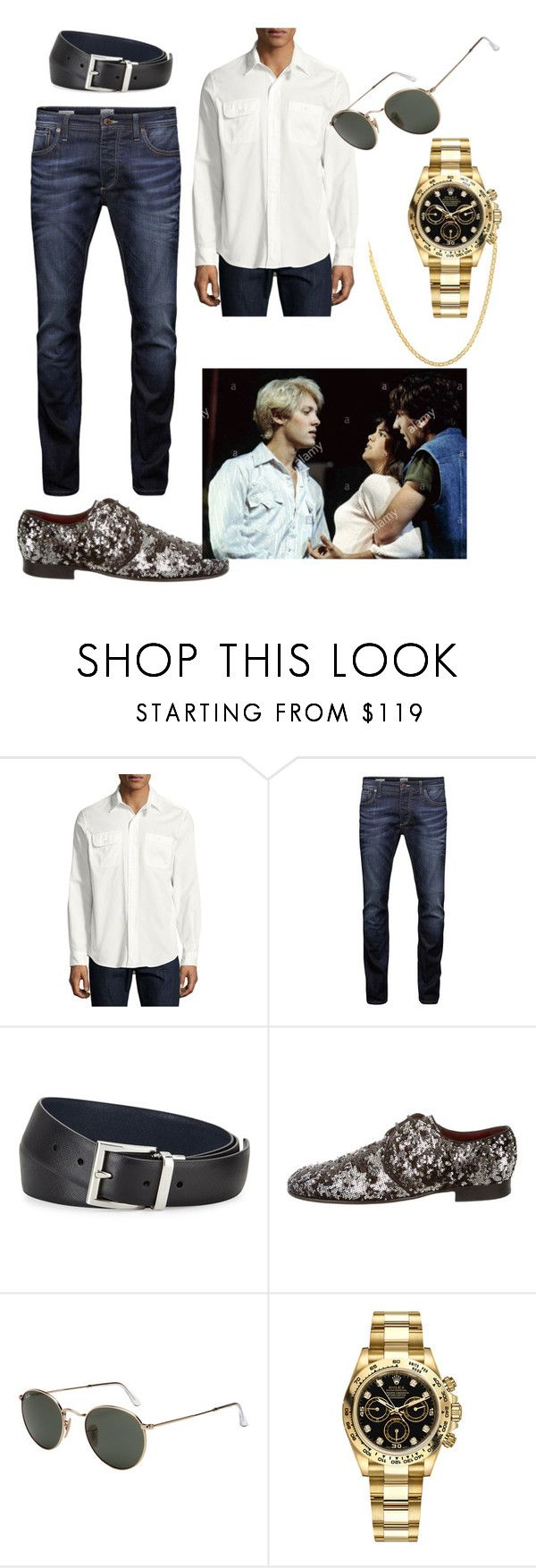 """Dutra (James Spader) The New Kids 1985 (watch is encouraged!)"" by katrinalester123 ❤ liked on Polyvore featuring Ralph Lauren, Jack & Jones, Prada, Dolce&Gabbana, Ray-Ban, Rolex, Lord & Taylor, men's fashion and menswear"