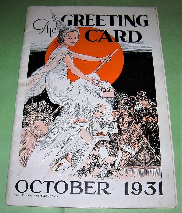 VINTAGE HALLOWEEN 1931 The GREETING CARD Retailer Catalog Book with Flying Witch | Collectibles, Holiday & Seasonal, Halloween | eBay!