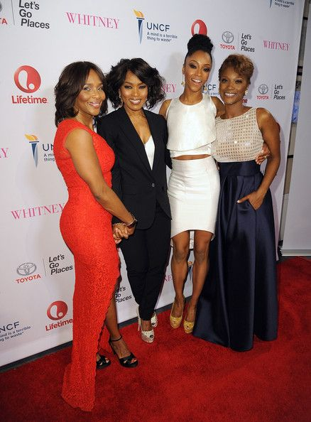 """Angela Bassett Photos Photos - Suzzanne Douglas, director Angela Bassett, Yaya DaCosta and Yolanda Ross arrive at the premiere of Lifetime's """"Whitney"""" at The Paley Center for Media on January 6, 2015 in Beverly Hills, California. - Premiere Of Lifetime's """"Whitney"""" - Red Carpet"""
